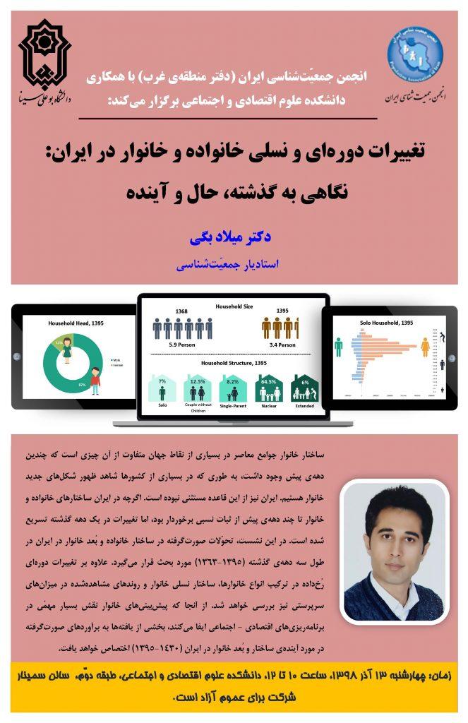 تغییرات دوره ای و نسلی خانواده و خانوار در ایران